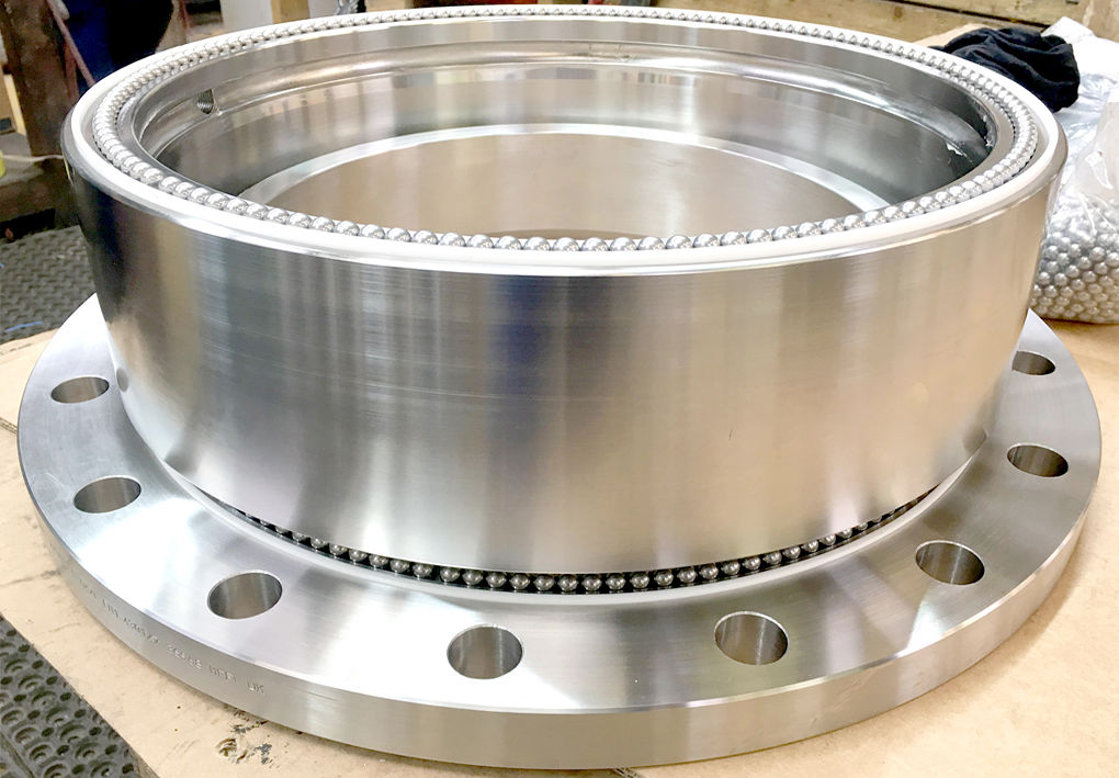 large diameter swivel pipe joint Couplings fittings Aluminium steel SpoolPiece flange connection spinning rotating stainless viton seal rotary